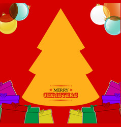 christmas hand drawn style background with gift vector image