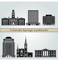 Colorado Springs landmarks and monuments vector