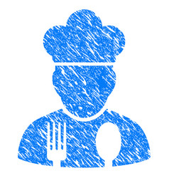 cook profession grunge icon vector image