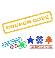 Coupon Code Rubber Stamp vector image