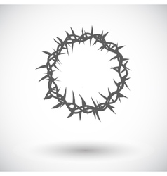 crown thorns single icon vector image