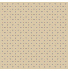 Cute hearts seamless background vector