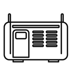 Electric welding icon outline style vector