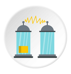Electrical impulses icon circle vector