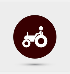 farmer on tractor icon simple gardening element vector image