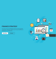 financial strategy analytics with growth report vector image