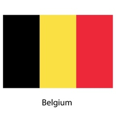 Flag of the country belgium vector image vector image