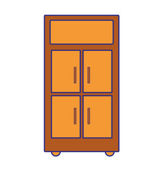 Full color office cabinet archive file vector