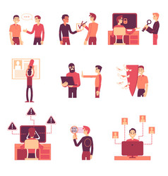 Gdpr with various scenes vector