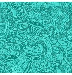 Hand drawn grass seamless pattern vector