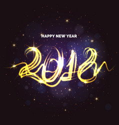 happy new year 2018 bright poster with an vector image