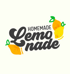 homemade lemonade poster with creative drawing vector image