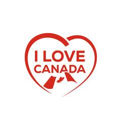 i love canada vector image