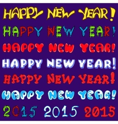 inscription set - happy new year vector image