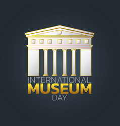 international museum day logo icon design vector image