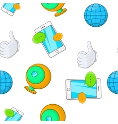 Internet pattern cartoon style vector