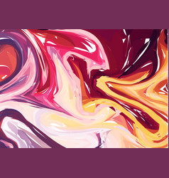 Luxury multicolor marble background with swirls vector