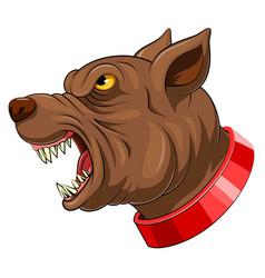 Mascot head an dog vector