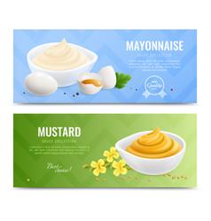 Mustard realistic banner set vector