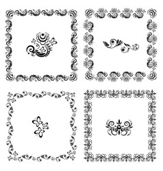 pattern of square frames vector image