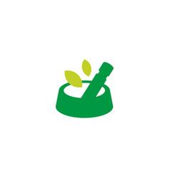 Pet food bowl herbal concoction logo icon vector