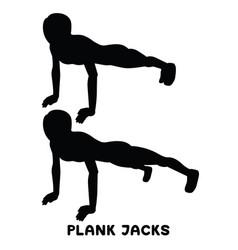 Plank jacks plank planking sport exersice vector