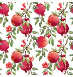 Pomegranate fruit pattern vector