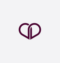 purple heart icon sign vector image
