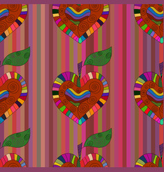 rainbow apple vector image