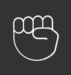 Raised fist emoji chalk icon vector