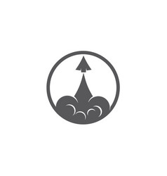 rocket logo design symbol templaterocket i vector image