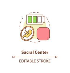 Sacral center concept icon vector