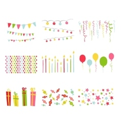 Scrapbook Design Elements Birthday Party Set vector