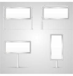 Set of blank City Light vector image