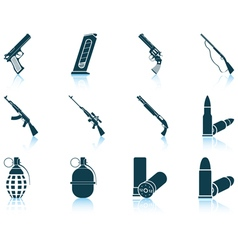 Set weapon icons vector