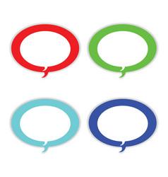 speech bubble icons - dialogue boxes vector image