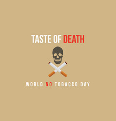 Style bacnner for no tobacco day vector
