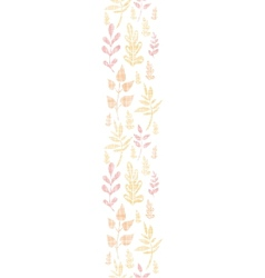 Textile textured fall leaves vertical seamless vector image