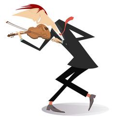 Violinist man vector