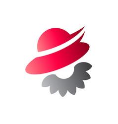 woman hat logo vector image