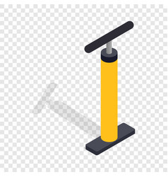 yellow hand bicycle pump isometric icon vector image