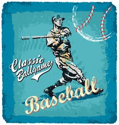 baseball classic batter vector image vector image