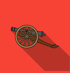 cannon icon in flat style isolated on white vector image vector image