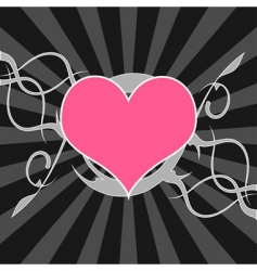 decorative heart background vector image