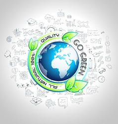 Go Green Conceptual background with hand drawn vector image