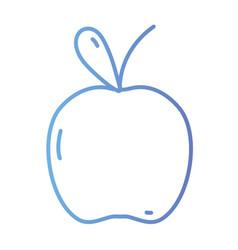 line delicious apple fruit to healthy nutrition vector image vector image
