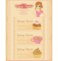 Menu bakery and coffee shop vector