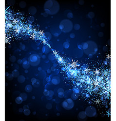 Winter background with swirl of snowflakes vector image vector image