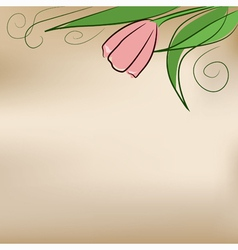 background with tulip vector image vector image