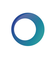 circle business finance logo image vector image vector image